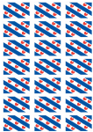 Friesland Flag Stickers - 21 per sheet